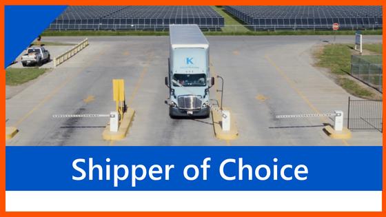 6 Key Factors Shipper of Choice Header Image Keller Trucking Tractor going through Warehouse Gate