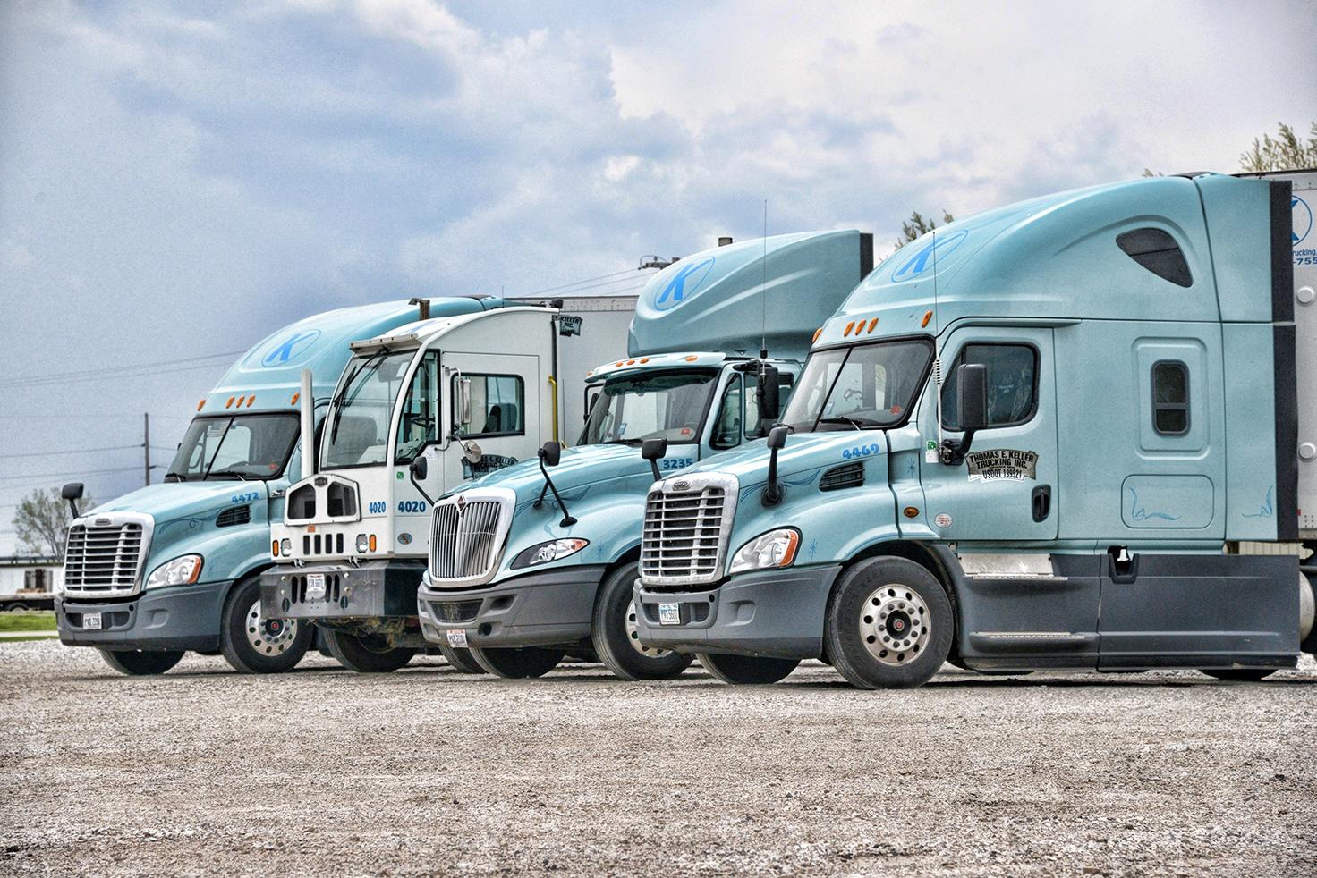 Tweener Load _ Picture of Multiple Keller Trucks