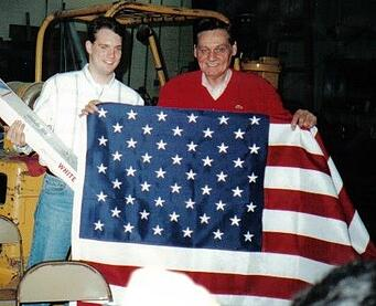 Bryan and Tom with American Flag