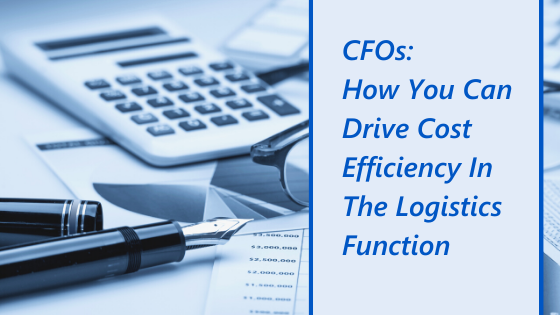 Chief Financial Officers: How You Can Drive Cost Efficiency in the Logistics Function image of calculator, pen, and graphs