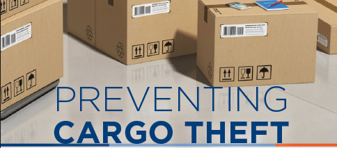 Barcoded cardboard boxes with text- Preventing Cargo Theft