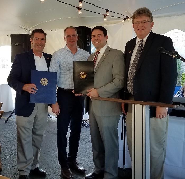 State Representative Craig Riedel, Bryan Keller, State Senator Rob McColley, and State Representative Jim Hoops